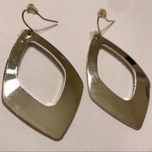 Jewelry - Silver Diamond-Shaped Earrings
